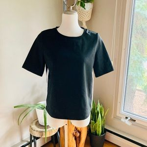 ONLY Side Stripe Structured T-shirt